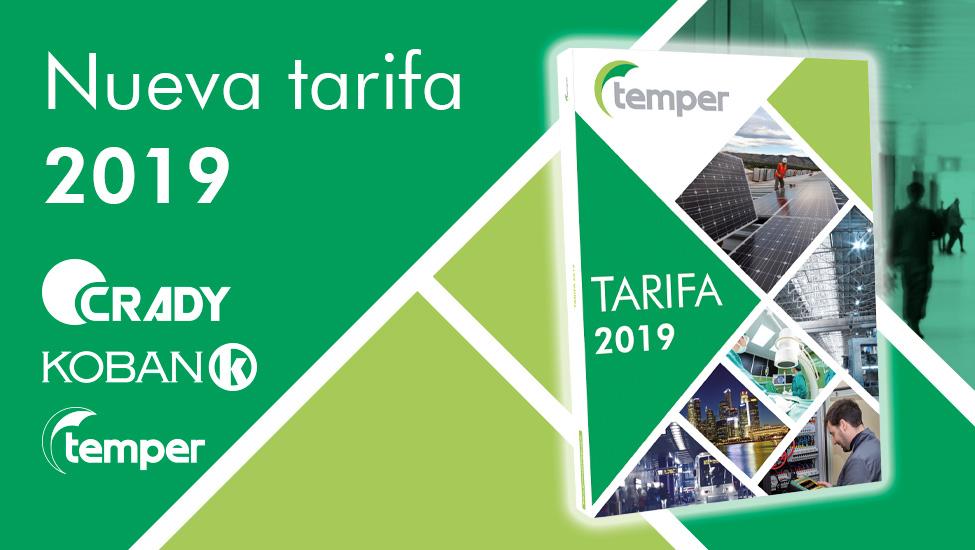 Nuevo catálogo tarifa TEMPER